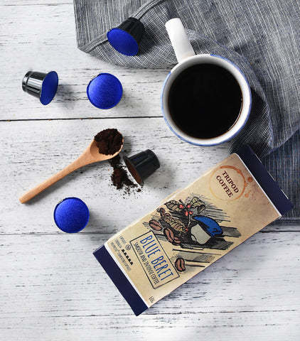 Tripod Coffee - Blue Beret, Nespresso-Compatible Coffee Capsules