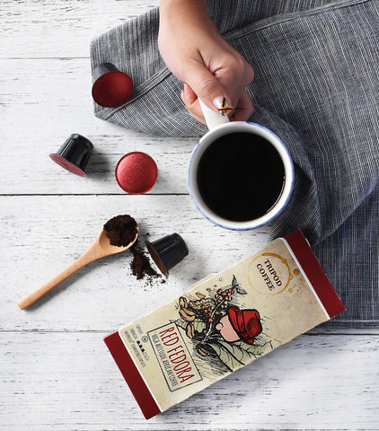 Tripod Coffee - Red Fedora, Nespresso-Compatible Coffee Capsules
