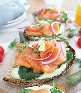 Fresh, leaner, less-fatty with good texture Smoked Salmon