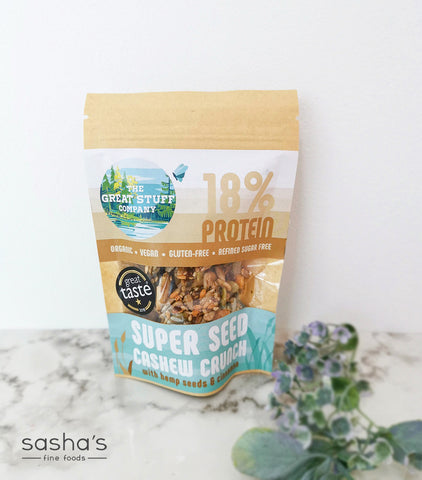 Super Seed Crispy Bites with Cashew Crunch with Hemp Seeds & Cinnamon