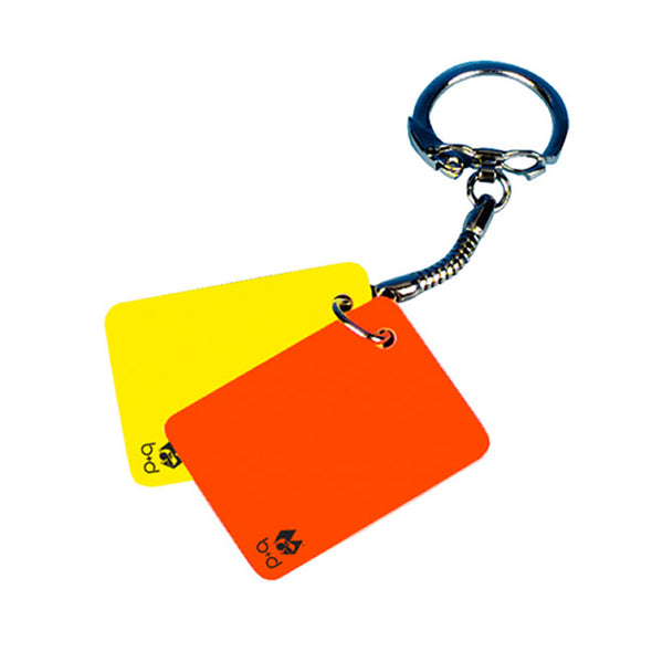 b+d 'Key Card' warning keyring