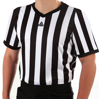 PEAK mesh v-neck basketball referee shirt