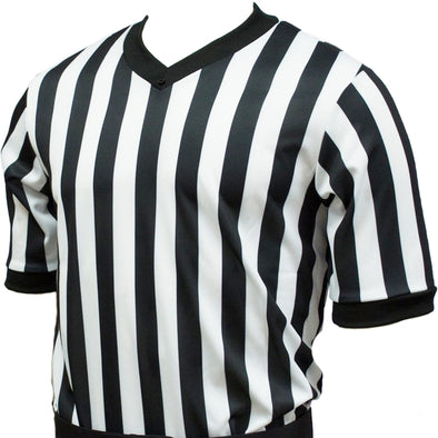 Smitty v-neck basketball referee shirt (black/white)