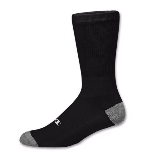 3pk Champion Authentic socks (crew)