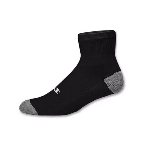 3pk Champion Authentic socks (quarter)