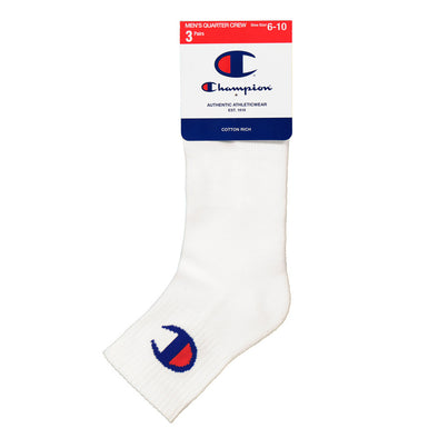 3pk Champion C Logo socks (quarter)