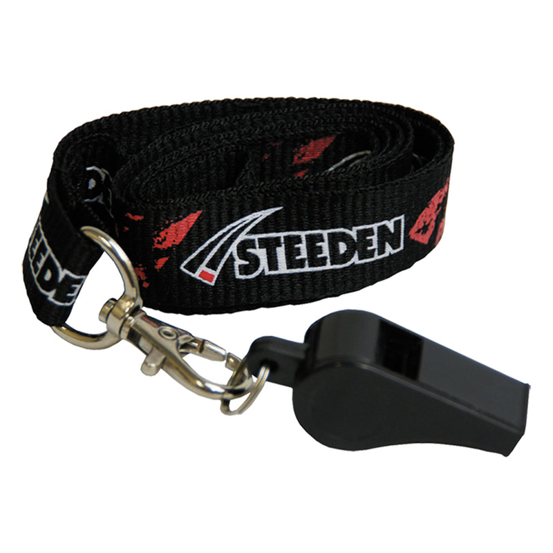 Steeden whistle and lanyard