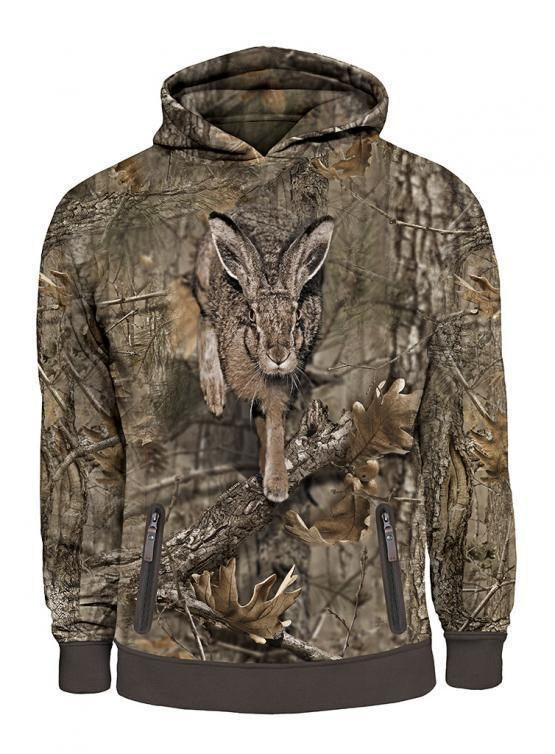 Hillman 3D Hoodie Hase Camo