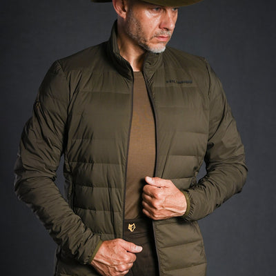 flaumige JAGDJACKE 1000 DOWN POWER ALPHA [4IL] - HILLMAN
