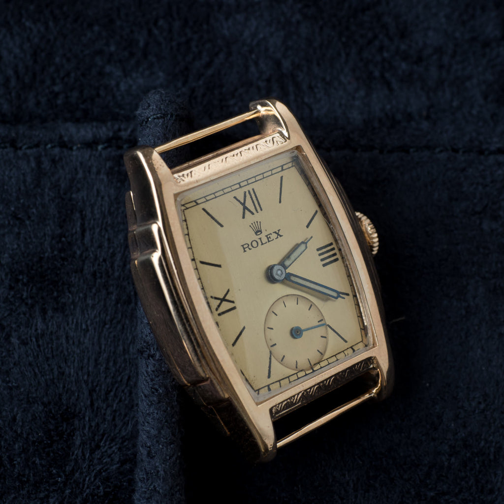 ROLEX 1930s Rectangle 9ct GOLD