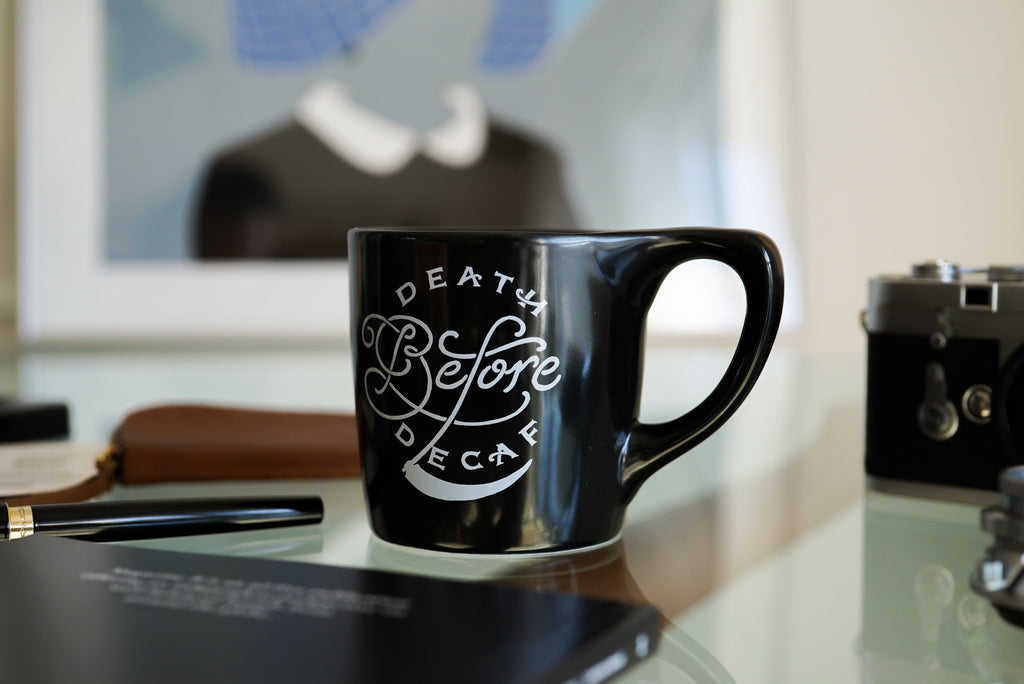 Death Before Decaf - Lino Mug (notNeutral x Department of Brewology) マグカップ