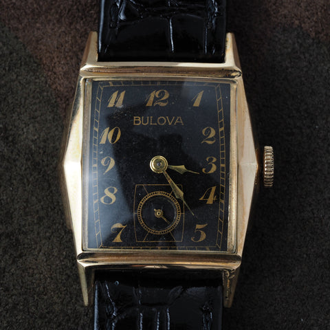 BULOVA Rectangle Balck Dial