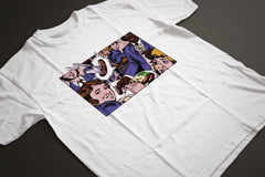 Grange Hill COMIC STRIP Sausage On Fork T-Shirt - Sublimation Print - eightbittees