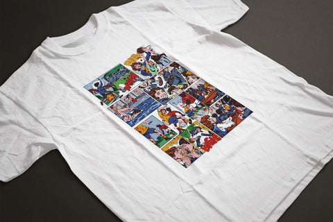 Grange Hill COMIC STRIP Full T-Shirt - Sublimation Print - eightbittees