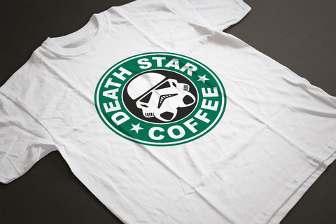Star Wars DEATH STAR/STARBUCKS Parody T-Shirt - Sublimation Print - eightbittees