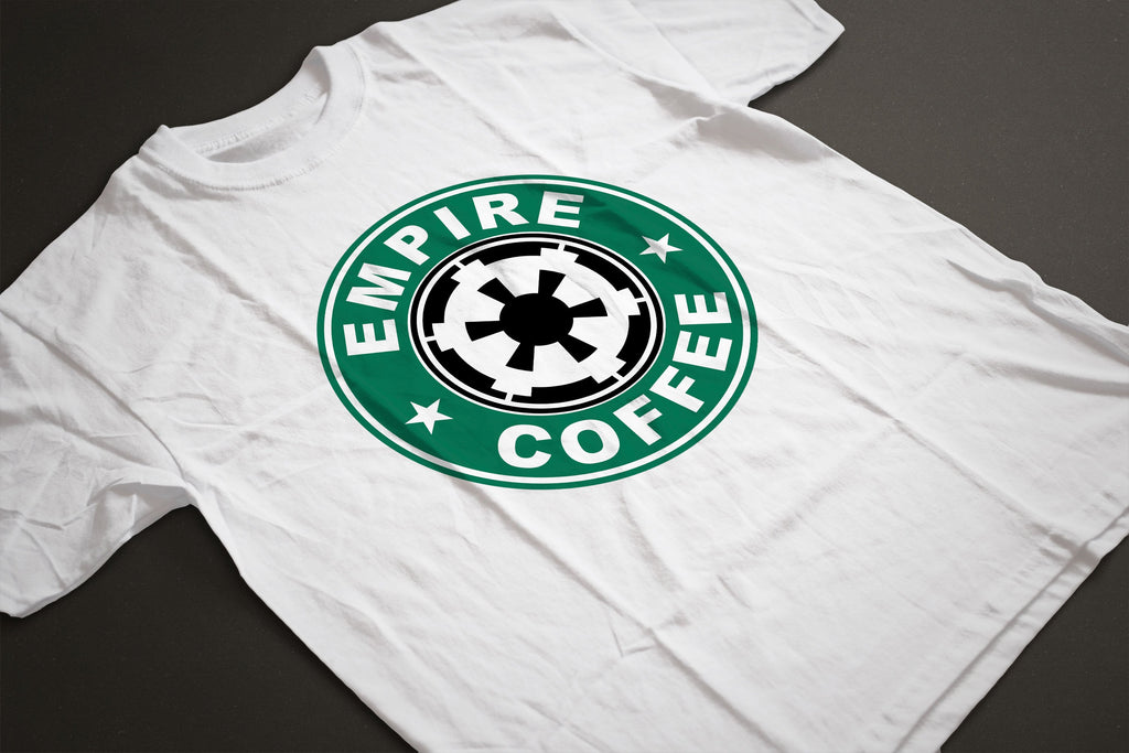 Star Wars EMPIRE/STARBUCKS Parody T-Shirt - Sublimation Print - eightbittees