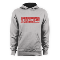 Blackadder WEASEL QUOTE Hoodie - eightbittees
