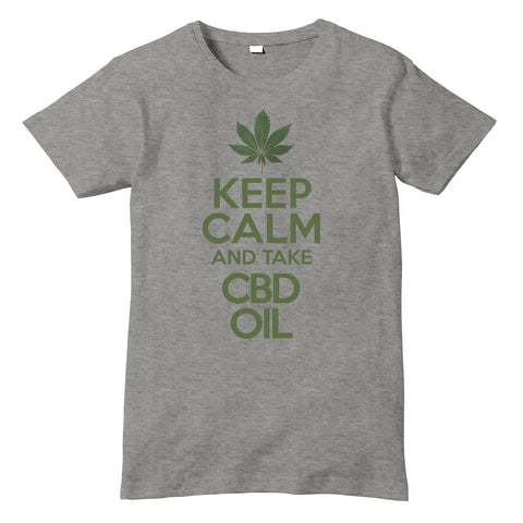 KEEP CALM and take CBD OIL T-Shirt - eightbittees