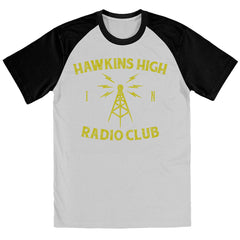 Hawkins High Radio Club STRANGER THINGS TV Show Inspired BASEBALL Shirt - eightbittees