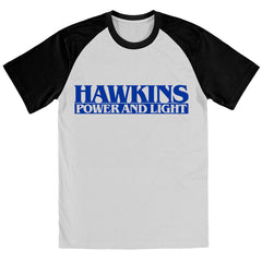 Hawkins Power & Light STRANGER THINGS TV Show Inspired BASEBALL Shirt - eightbittees