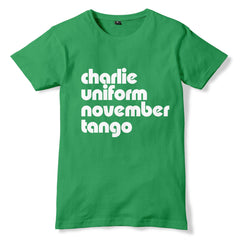 CHARLIE UNIFORM NOVEMBER TANGO Offensive C*NT Joke T-Shirt - eightbittees