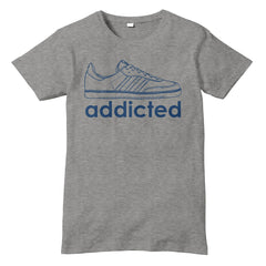 ADDICTED to Samba Inspired Football casual T-shirt - eightbittees