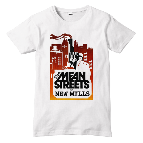 NEW MILLS Mean Streets Parody T-Shirt - Sublimation Print - eightbittees