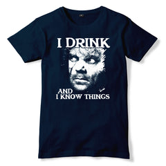 Tyrion Lannister I DRINK AND I KNOW THINGS T-Shirt - eightbittees