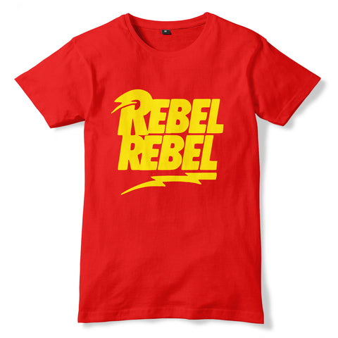 David Bowie REBEL REBEL Inspired T-Shirt - eightbittees