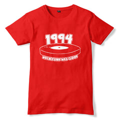 1994 When Punk Was Good FAT WRECK CHORDS Parody T-Shirt - eightbittees