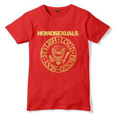 HOMOSEXUALS / RAMONES inspired Gay Pride T-Shirt - eightbittees
