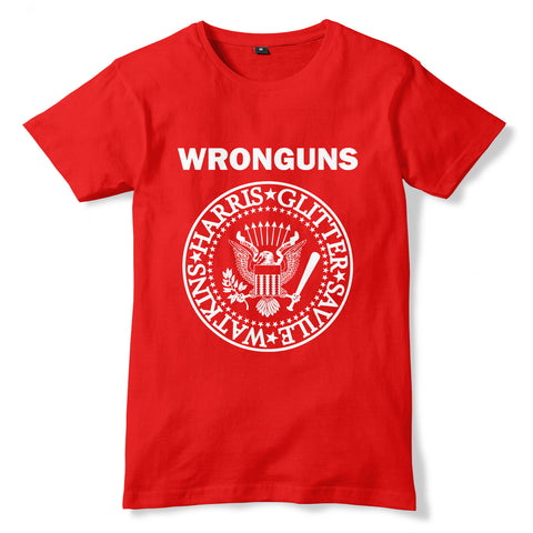 WRONGUNS / RAMONES Inspired Bad Taste Parody T-Shirt - eightbittees