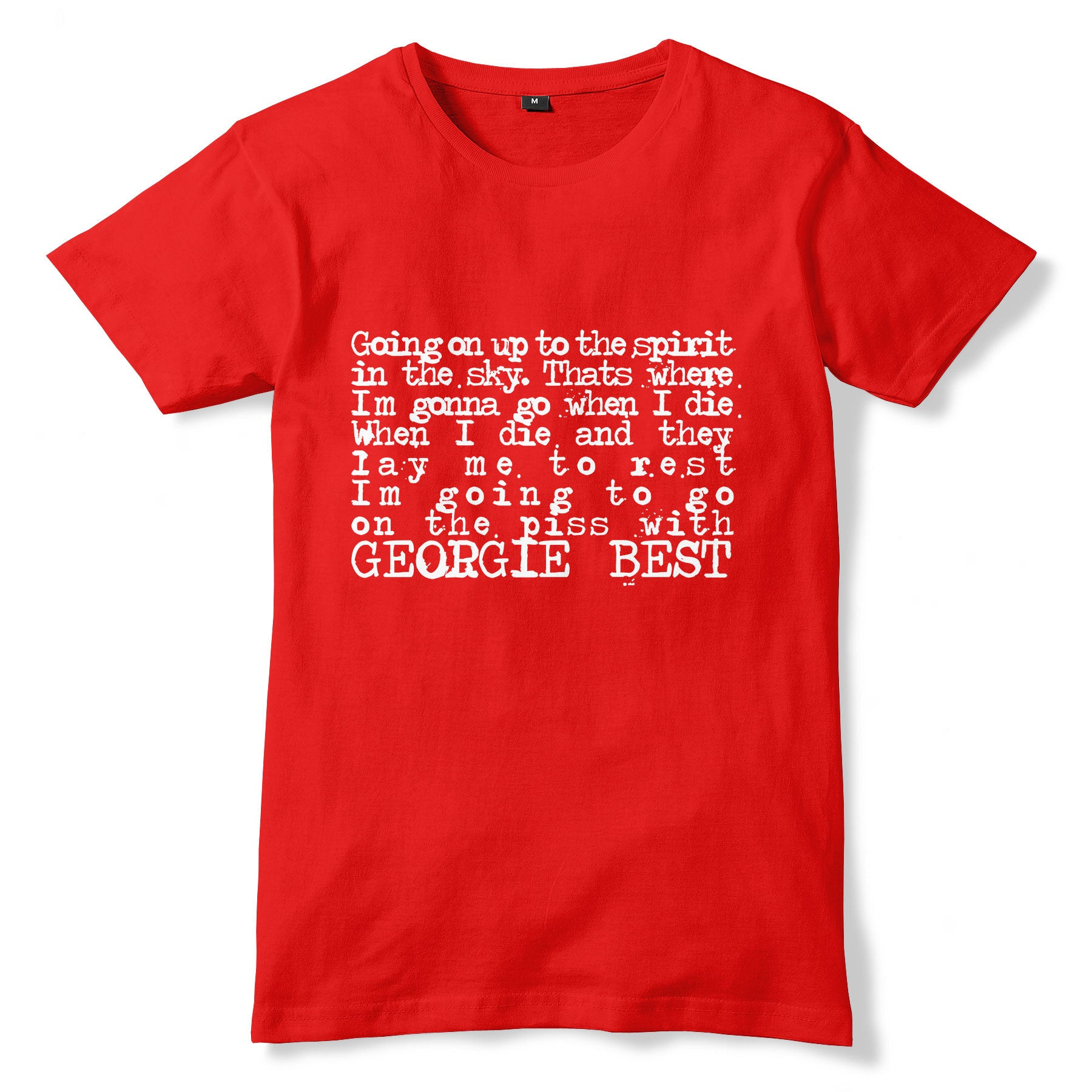 sports shoes 2a450 3094e George Best Chant / Manchester United T-Shirt