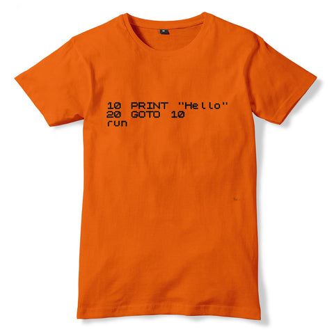 BASIC Programming Language Code Nerd T-Shirt - eightbittees
