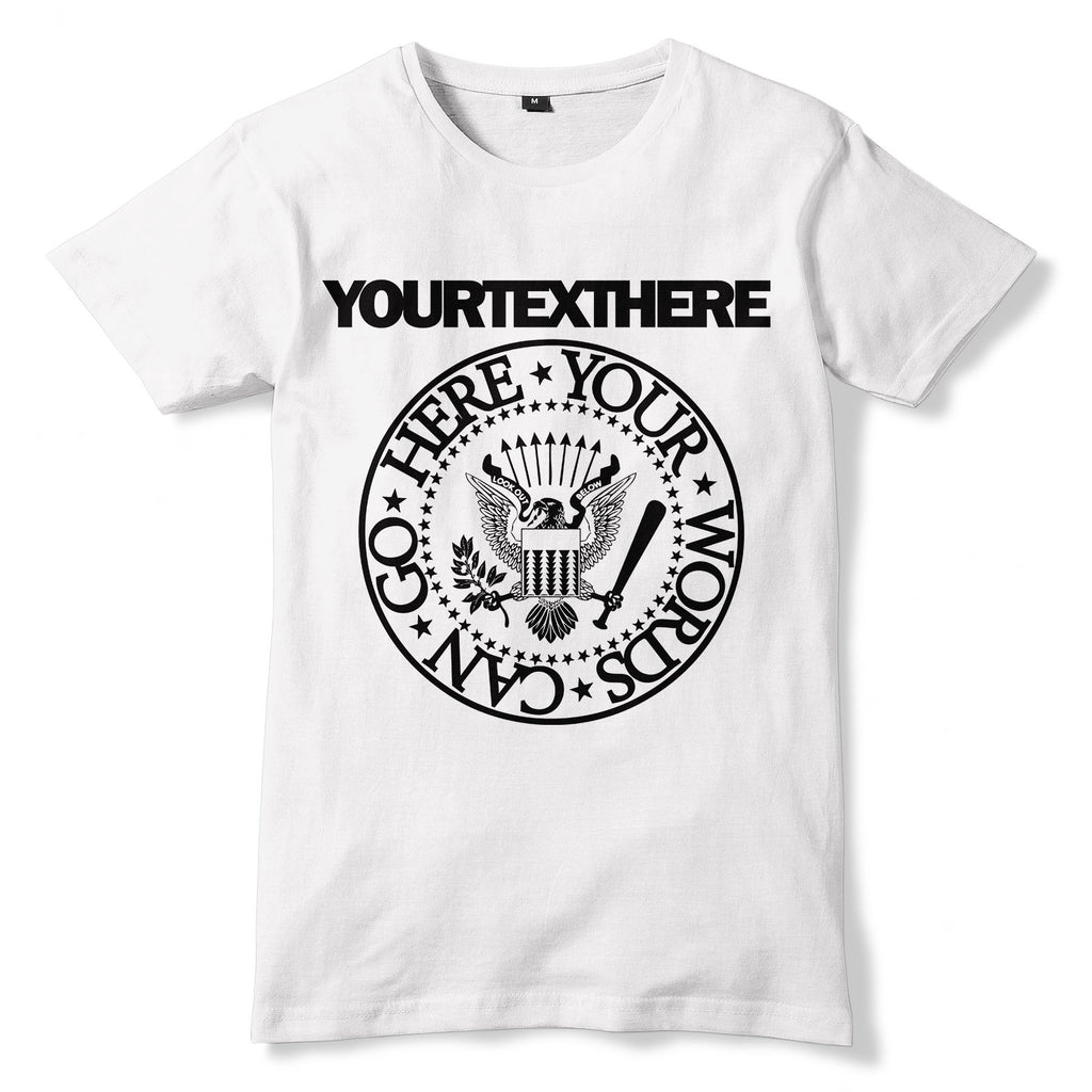 Personalised RAMONES Style T-Shirt - Sublimation Print - eightbittees