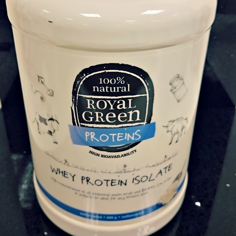 Royal Green Premium Quality Whey Proteinisolat 600 gr + shaker!