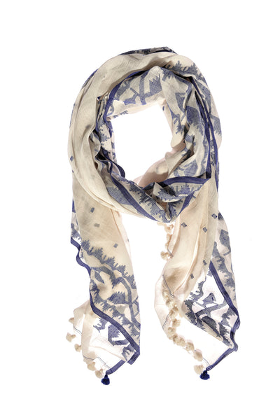 Chantilly Ivory Cobalt