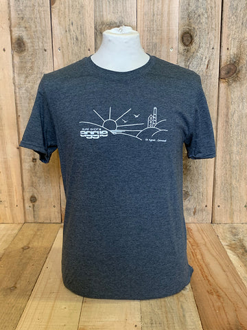 Aggie Tin Mine Mens Organic Cotton T-Shirt