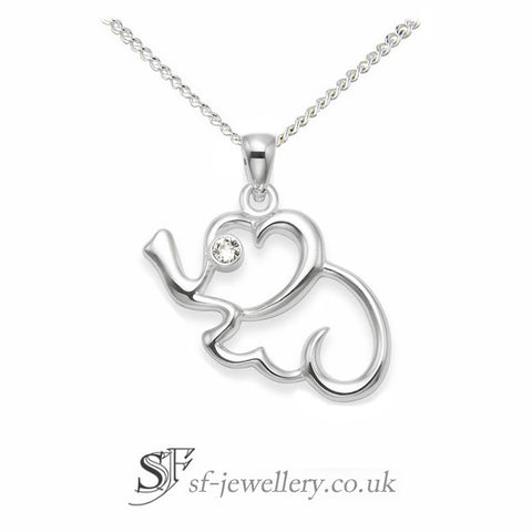 Silver Elephant Necklace | elephant Jewellery silver