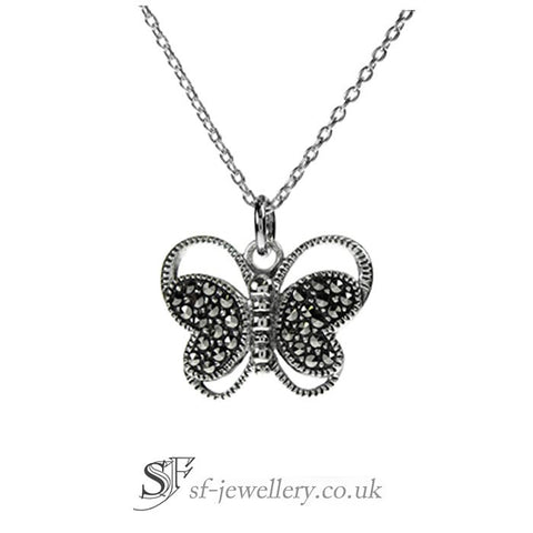 Butterfly Necklace, Marcasite Butterfly Necklace