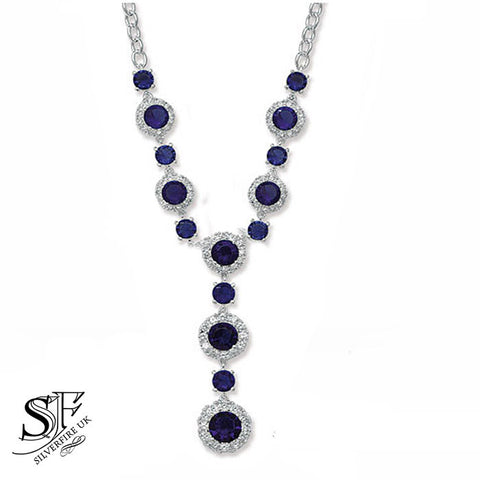sapphire crystal zirconia necklace