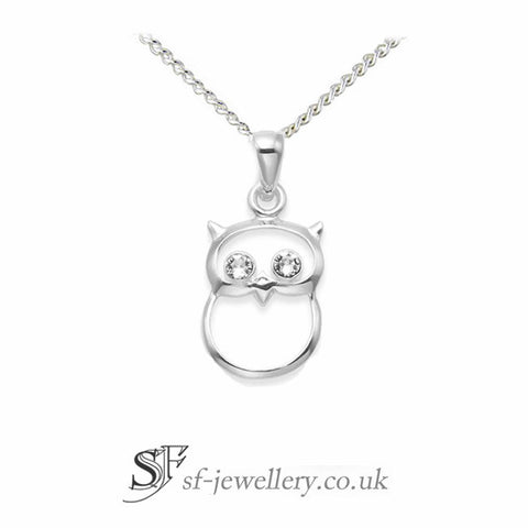 Childrens Owl Pendant necklace