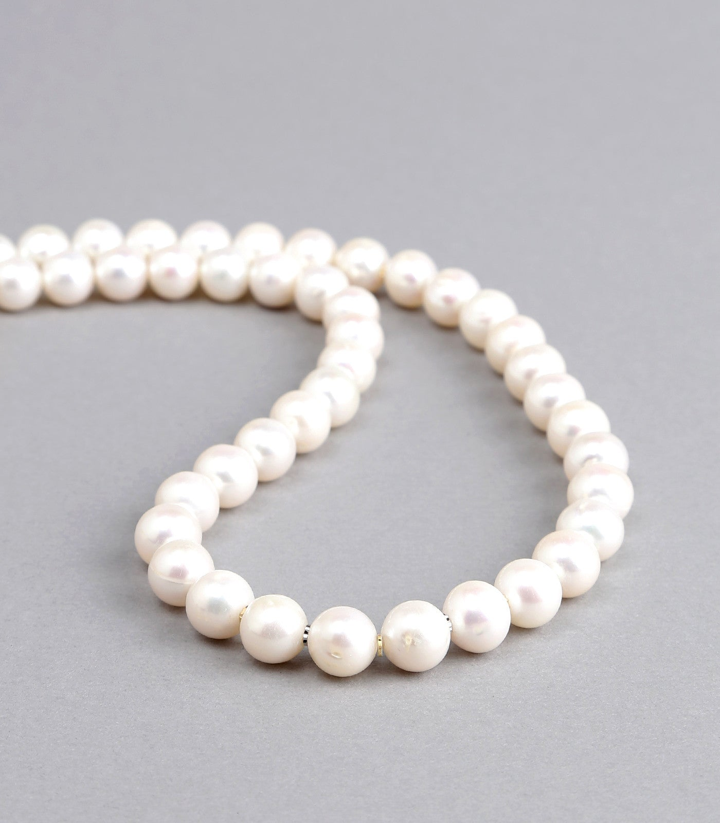 with akoya gold strand winterson necklace single white pearl clasp