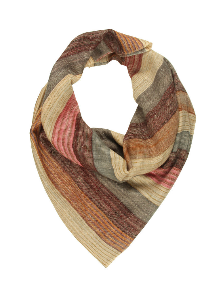 Multicolor Broad Stripe Pure Pashmina Stole