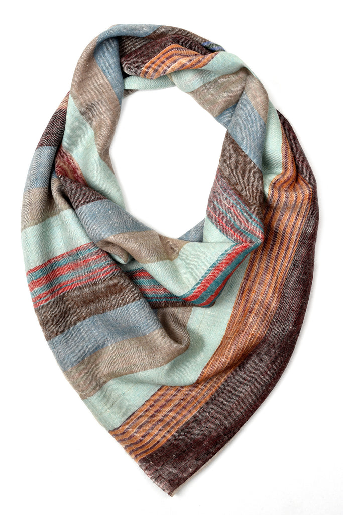 Natural multicolor shades pure pashmina stole