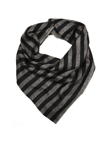 Black & Gray Narrow Stripes Pure Pashmina Stole