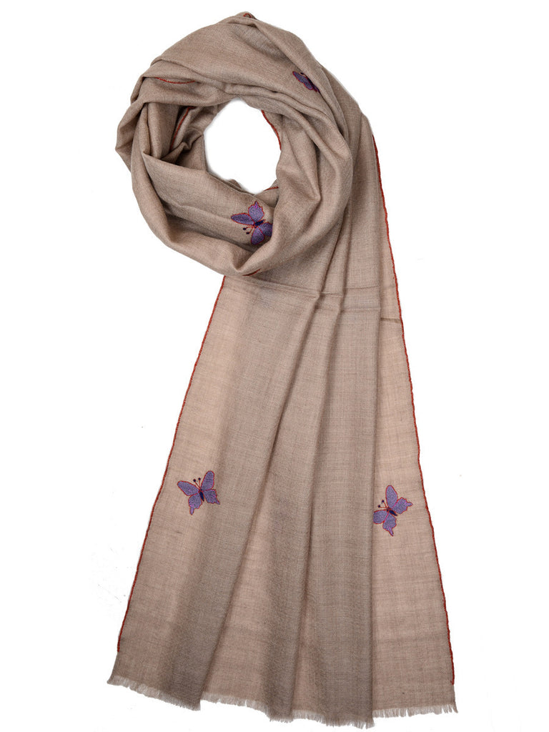 Butterfly booti pure pashmina stole