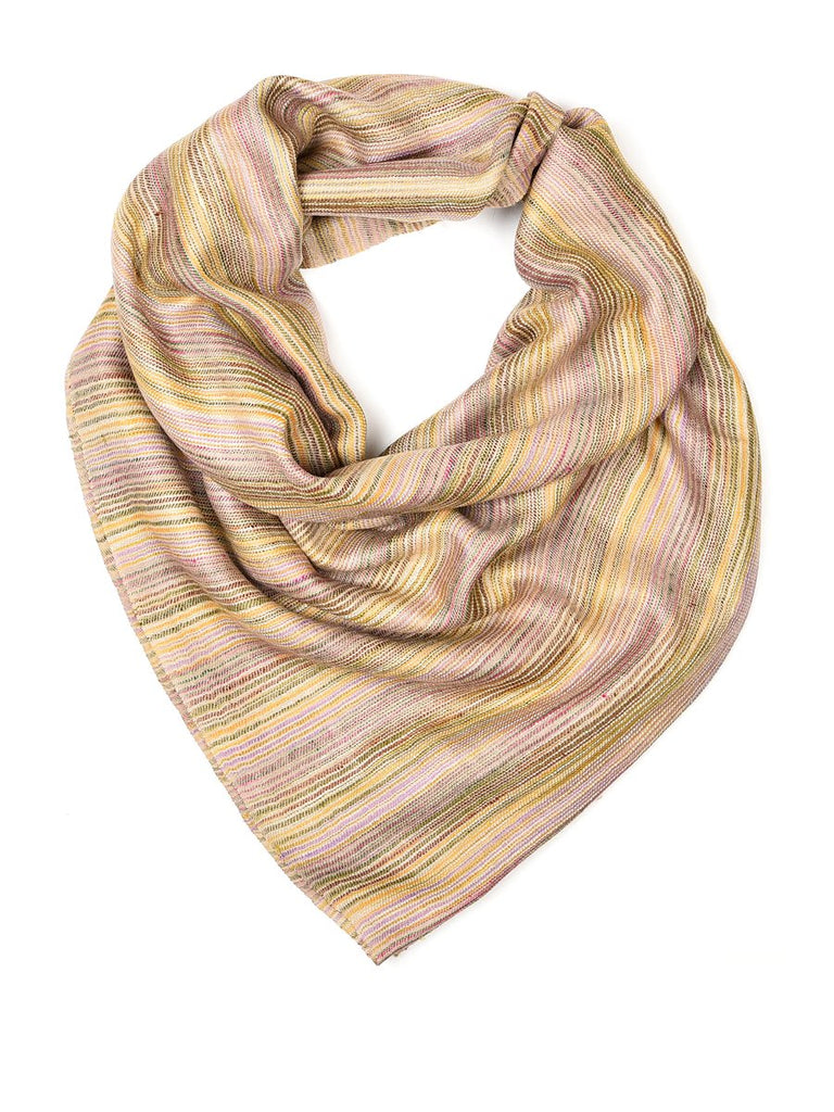 Pastel colour narrow stripes pure pashmina stole
