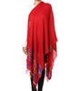 Red pashmina stole with Kani work on palla