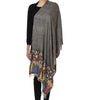 Stone grey pashmina stole with Kani work on palla